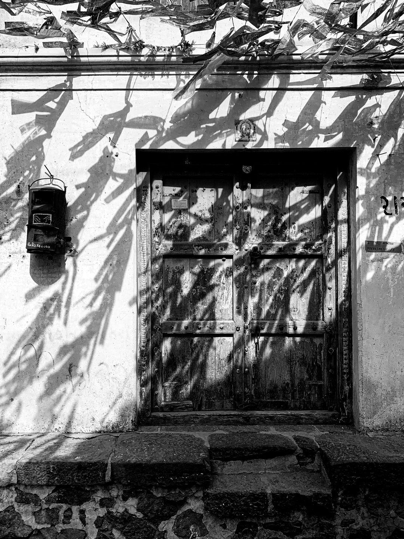 Letterbox, door, village, India. © Mohit Patel